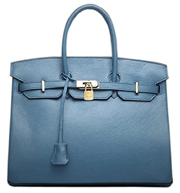 bfa453ae5 Bagroo 100% Genuine Leather Handbag Padlock Handbags Satchel Padlock Tote  Purse