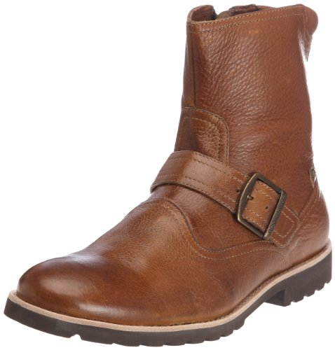 Rockport Men's Lh Buckle Light Tan Zip Up Boot K72493 9 UK