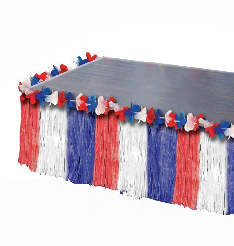 Forum Novelties July 4th Independence Day Red White Blue America Patriotic Table Skirt Picture