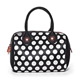 BUILT NY Uptown Lunch Big Dot Tote, Black and White