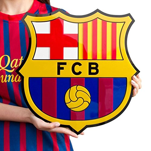 fc barcelona soccer crest shield acrylic to hang on wall with stand same as on messi neymar. Black Bedroom Furniture Sets. Home Design Ideas