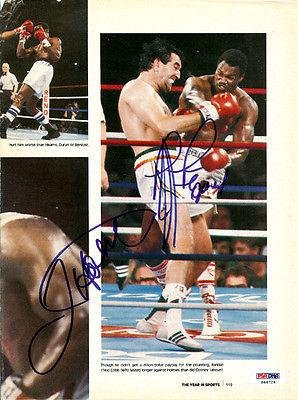 Gerry Cooney & Holmes Autographed Signed Magazine Page Photo #S48724 - PSA/DNA Certified - Autographed Boxing Magazines