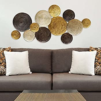 Stratton Home Decor SHD0067 Multi Circles Wall Decor