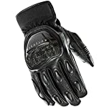 Joe Rocket Speedway Men's Motorcycle Riding Gloves (Black/Black, X-Large)