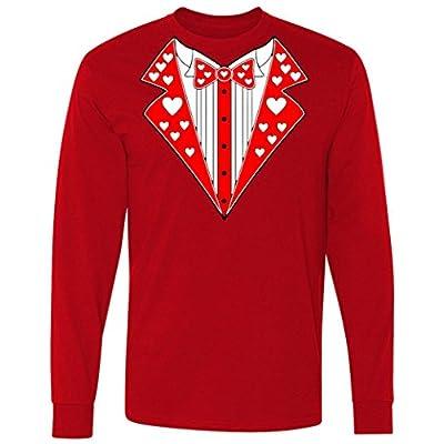 Valentine's Day Heart Tuxedo long sleeve T-Shirt