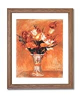 Renoir Tulip Flower Vase Contemporary Home Decor Wall Picture Oak Framed Art Print
