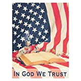 Patriotic Banner Flag - In God We Trust