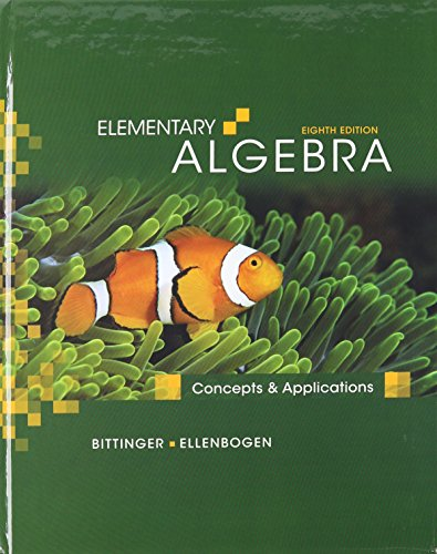 Elementary Algebra: Concepts and Applications with MathXL (12-month access) (8th Edition)