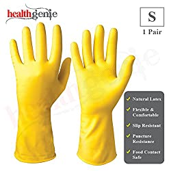 Healthgenie Flocklined Household Multi-Purpose Glove, Small (1 Pair)