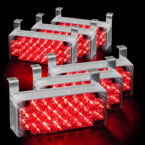 132 Led Emergency Warning Flashing Strobe Lights With 3 Mode Controller - Red
