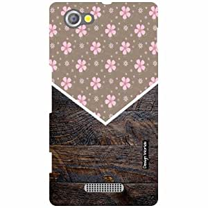 Design Worlds Sony Xperia M Back Cover - Wood Designer Case and Covers