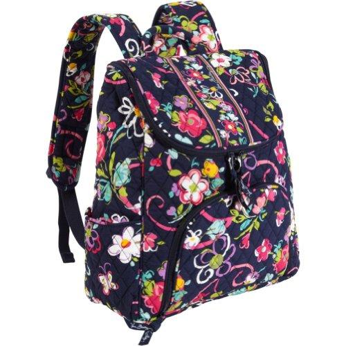 Vera Bradley Double Zip Backpack (Ribbons)