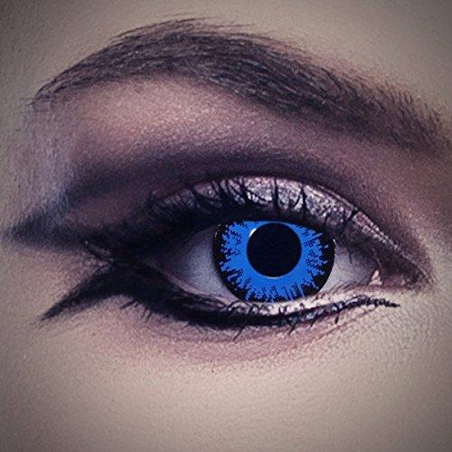 Lenti a contatto colorate Côte d'Azur da Aricona - coprendo anni lenti per gli occhi chiari e scuri, senza ricetta, lenti colorate di carnevale, feste a tema e costumi di Halloween