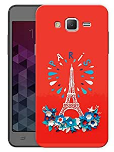 "Humor Gang Eiffel Tower - Paris - Red Printed Designer Mobile Back Cover For ""Samsung Galaxy Grand 2"" (3D, Matte, Premium Quality Snap On Case)"