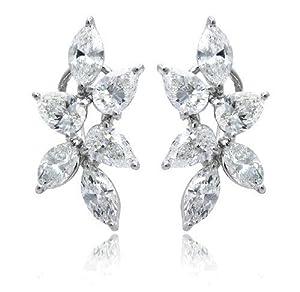 Diamond & 18k White Gold Earrings