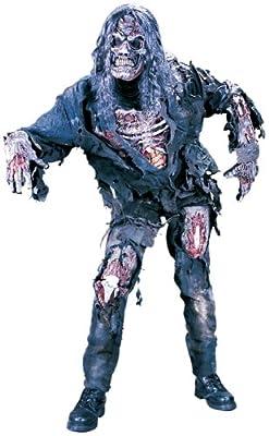 FunWorld Men's  Complete 3D Zombie-Adult, Grey, One Size Costume