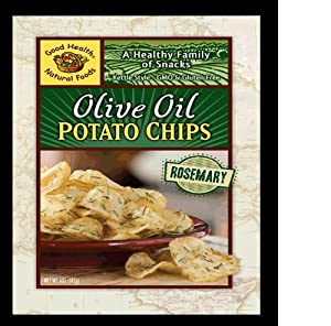 Good Health Kettle Style Olive Oil Potato Chips, Rosemary, 5-Ounce Bags (Pack of 12)