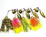 亨嘉ルアーセット 4個 14.8G スピナーベイト 釣り ルアー さんま低音マスワブラー釣り餌のペスカ釣りタックル