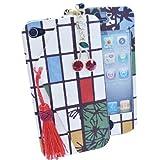 iPhone4s/4ケース京包美四季折々サクランボ 気泡カット液晶保護フィルムイヤホンジャック3点セット