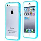 iProtect Protection Frame iPhone 5 5S Schutzh�lle H�lle hellblau