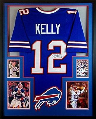 Jim Kelly Framed Jersey Signed JSA COA Autographed Buffalo Bills