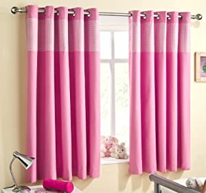 Eyelet Bedroom Curtains Com Pink 66 X 72 Gingham Bedroom Curtain Thermal Backed Eyelet