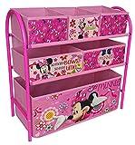 Organizador con estructura de metal para habitación infantil, diseño de Minnie Mouse, color rosa