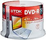 【Amazon.co.jp限定】TDK データ用DVD-R 4.7GB 1-16倍速対応 手描きもできるホワイトワイドプリンタブル 50枚スピンドル ATDR-47PWC50PZ