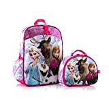 Disney Frozen Anna Elsa Olaf Svan Deluxe 15 Backpack with Lunch Bag