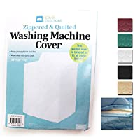 Vinyl Quilted Washing Machine Dryer Cover Zippered Zipper Top Dust Colors New !