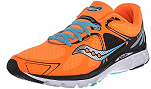 Saucony Men's Kinvara 6 Road Running Shoe, Orange/Teal, 10.5 M US
