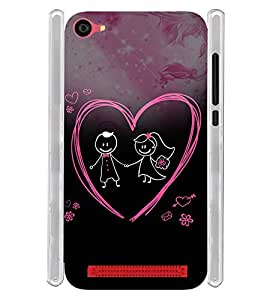 Love Couple Soft Silicon Rubberized Back Case Cover for LYF Wind 6 :: Reliance Jio LYF Wind6