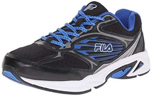 Fila Men's Inspell 3-M Running Shoe, Black/Dark Silver/Prince Blue, 12 M US