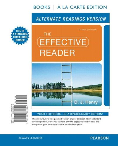 Effective Reader, The, Alternate Edition, Books a la Carte Plus NEW MyReadingLab with eText -- Access Card Package (3rd
