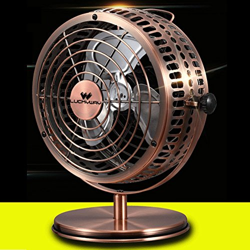 Loghot USB Small Desktop Electric Fan for Office and Dormitory with Full Metal (Golden, 6 Inches) (Desk Fan Teal compare prices)