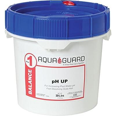 AquaGuard 30 Pound lb pH Up Pail - Fast-Dissolving Granular Pool Soda Ash - Quickly Raises pH And Alkalinity - Swimming Pool Water