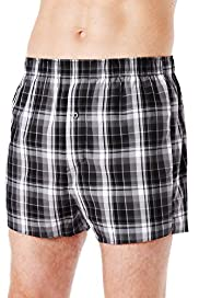 3 Pack Authentic Pure Cotton Checked Boxers