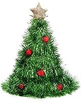 Alsino Weihnachtsmütze als Weihnachtsbaum Lametta Glitzer Christbaumhut Tannenbaum 134