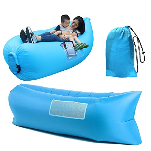 Awesome HappyCell Outdoor Inflatable Lounger Portable Lightweight Air Filled