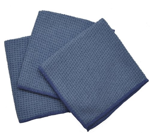 Eurow Microfiber Waffle Weave Dish Cloth (3-Pack,