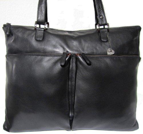 Billig Texas schwarz Leder Tasche