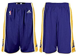 Adidas Los Angeles Lakers Youth Purple Replica Basketball Shorts by adidas