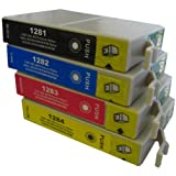 4 CiberDirect Compatible Ink Cartridges for use with Epson Stylus SX125 Printers.
