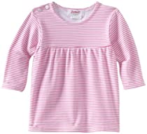 Zutano Baby-Girls Infant Candy Stripe Peasant Top, Hot Pink, 18 Months