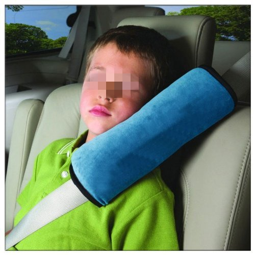 Crazycity Children Car Soft Seat Belt Shoulder Pad Pillow Headrest Support Pillow (Car grey) image