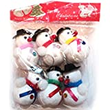FunRobbers Christmas Decorations Small Hanging Snow Man -Pack Of 6