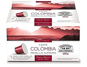 Find Compagnia dell' Arabica - Nespresso Compatible Capsules - COLOMBIA MEDELLIN SUPREMO 10 caps / box = 30 caps (TOTAL) from Compagnia dell' Arabica - Corsini S.p.A.