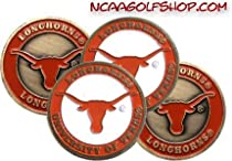 (4) Texas Longhorns Golf Ball Markers
