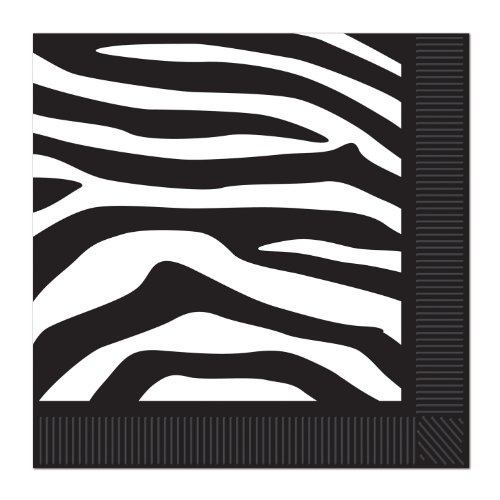 Zebra Print Luncheon Napkins (2-Ply)    (16/Pkg) - 1