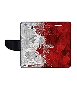 KolorEdge Printed Flip Cover For HTC Desire 616 Multicolor - (50KeMLogo11865HTC616)